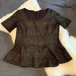 fit and flare gold fleck shirt